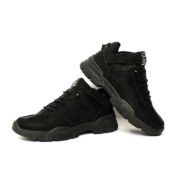 حذاء رجالي جلد صناعي اسود