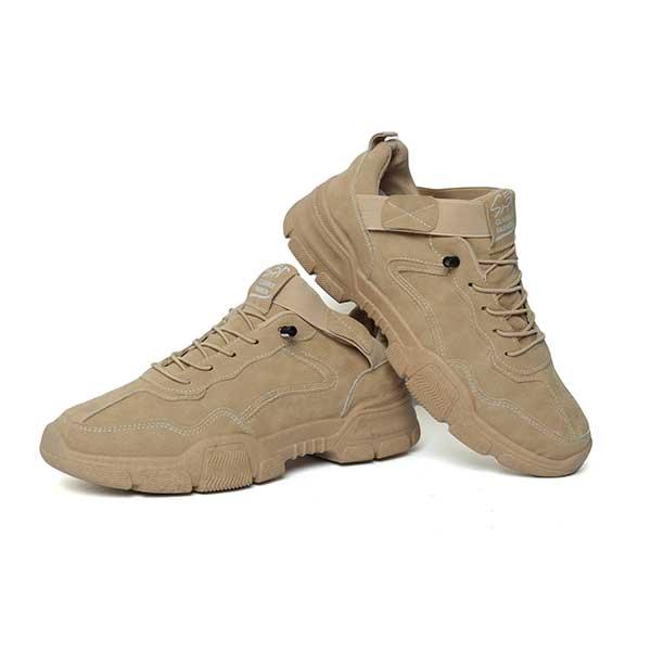 حذاء رجالي جلد صناعي بيج