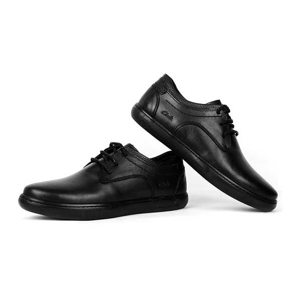 حذاء رجالي جلد طبيعي اسود كلاركس