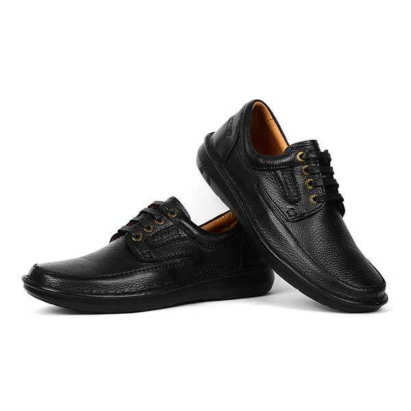 حذاء رجالي جلد طبيعي اسود