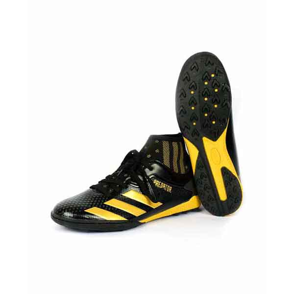 حذاء كرة قدم اطفالي ترتان - جلد - اسود