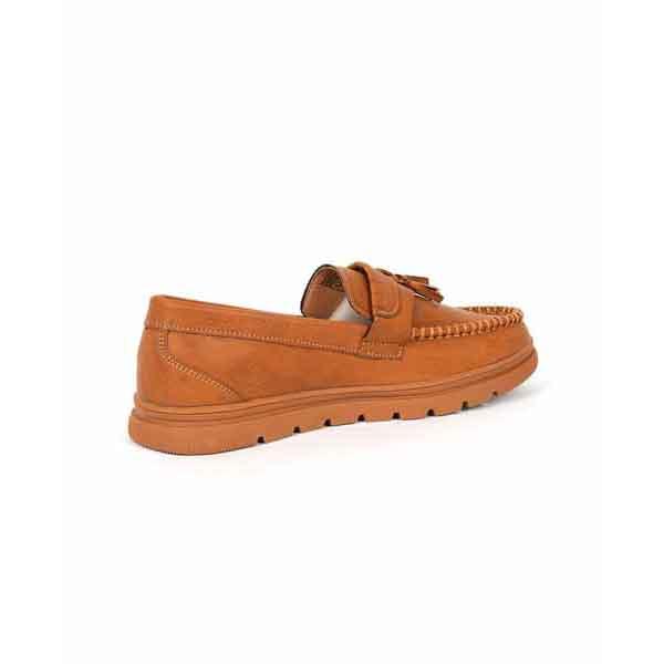 حذاء جلد صناعي - نعل كوتشي - جملي