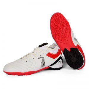حذاء كرة رجالي ترتان - ابيض*احمر