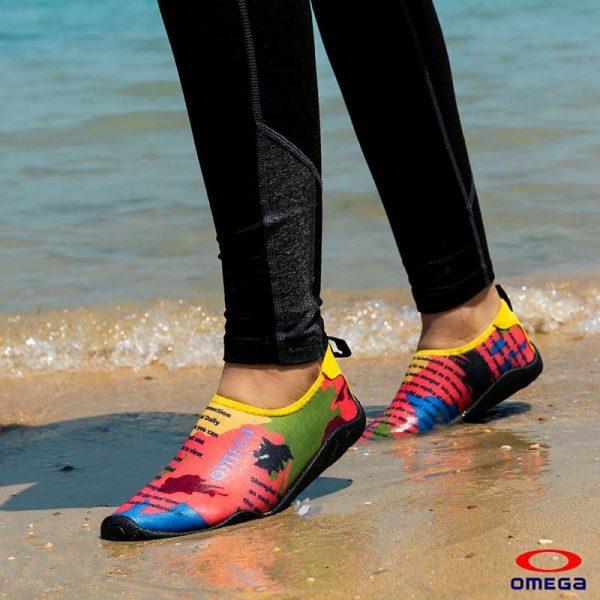 حذاء بحر حريمي - سنتيتك - اصفر*اورنج