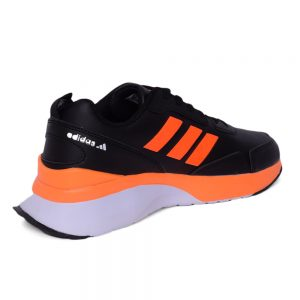 كوتشي رجالي- اسود*اورنج - جلد - Adidas